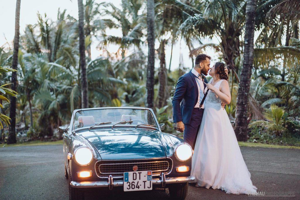 photographie de mariés aux domaine des milles cocos